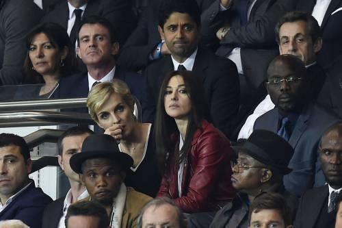 Bellucci e Sarkozy allo stadio 5