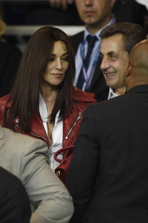 Bellucci e Sarkozy allo stadio 11