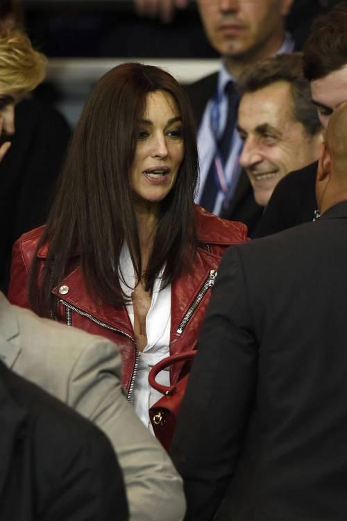 Bellucci e Sarkozy allo stadio 10