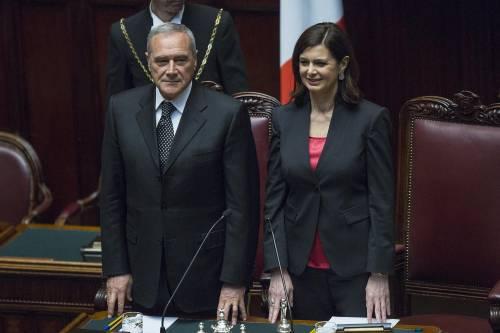 """La Boldrini zittisce (ancora) Grasso: """"Larghe intese? Non se ne parla"""""""