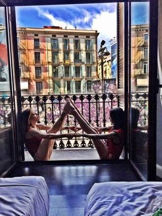 Naike Rivelli e Siria de Fazio a Barcellona 2