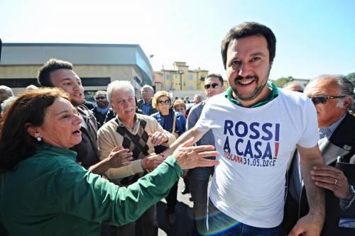 Botta e risposta tra Claudio Amendola e Matteo Salvini