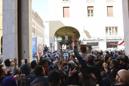 Le contestazioni a Salvini a Livorno 4
