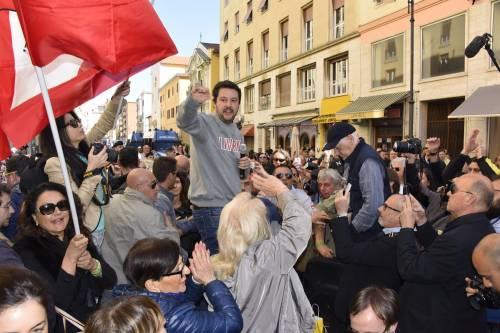 Le contestazioni a Salvini a Livorno 8