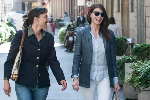 Ilaria D'Amico fa shopping con un'amica 4