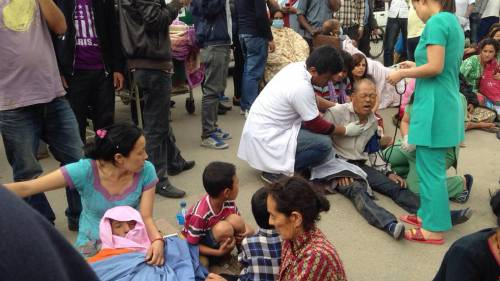 Un forte terremoto a Kathmandu 1