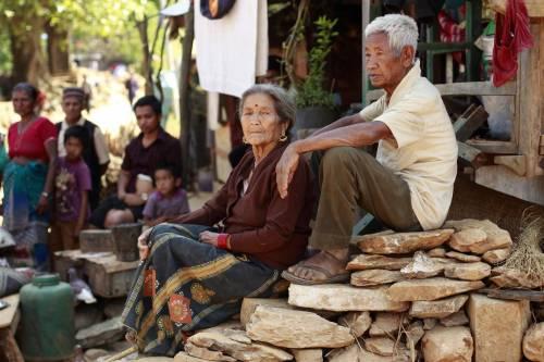 Il villaggio distrutto di Pokharidanda 15