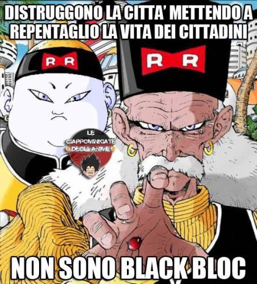 Il web sbeffeggia  i black bloc 3