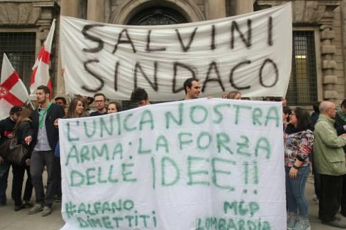 La Lega scende in piazza a Milano 4