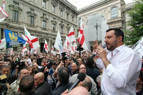 La Lega scende in piazza a Milano 7