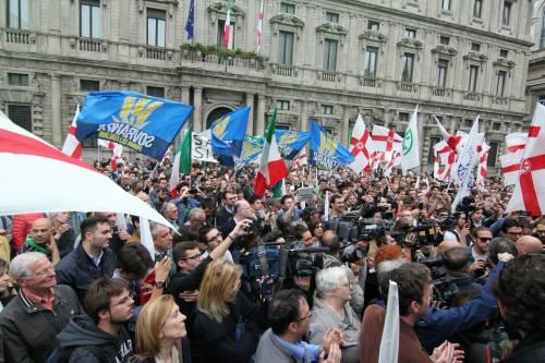 La Lega scende in piazza a Milano 9