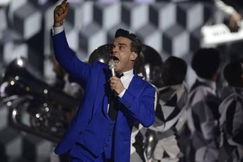 Robbie Williams e la moglie Ayda Field 10