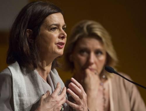 Laura Boldrini e Concita De Gregorio