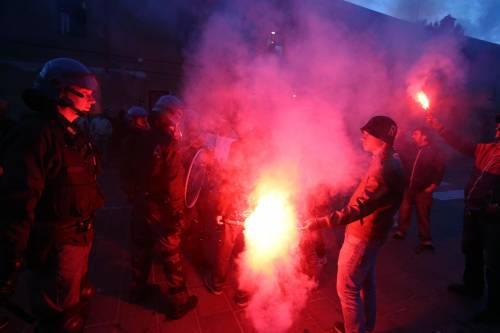 Segrate, Salvini attaccato dagli antagonisti 3