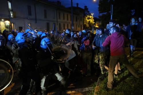 Segrate, Salvini attaccato dagli antagonisti 8