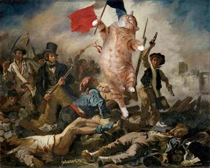 Vittorio Sgarbi invaso da immagini di gatti 9