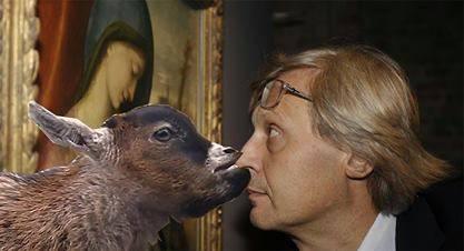 Vittorio Sgarbi invaso da immagini di gatti 11