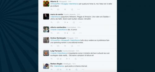 Dario Franceschini contestato su Twitter 5