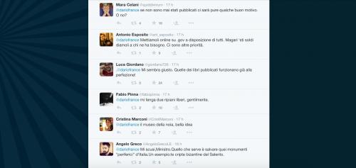 Dario Franceschini contestato su Twitter 10