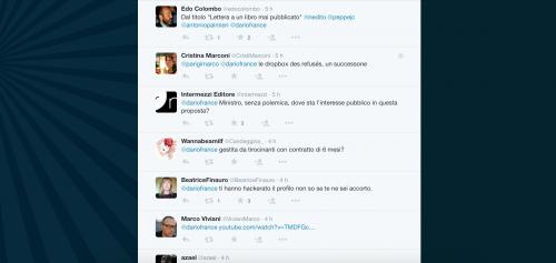 Dario Franceschini contestato su Twitter 9