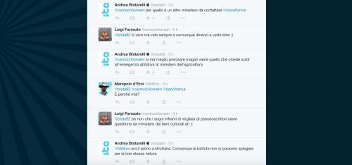 Dario Franceschini contestato su Twitter 8