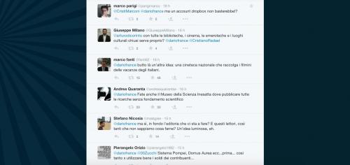 Dario Franceschini contestato su Twitter 21