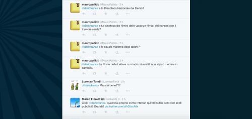 Dario Franceschini contestato su Twitter 24