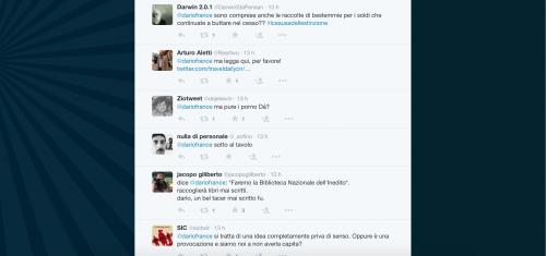 Dario Franceschini contestato su Twitter 22