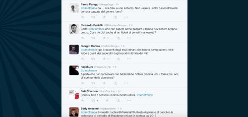 Dario Franceschini contestato su Twitter 27