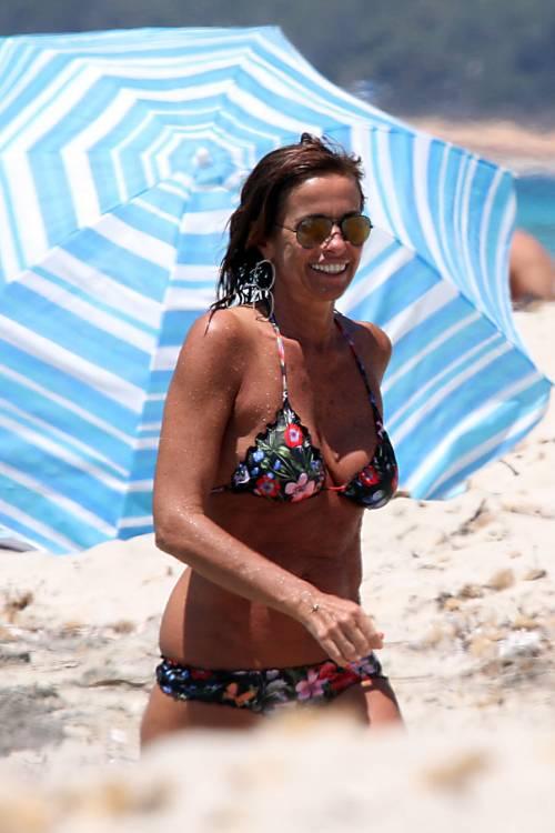 Il topless di Cristina Parodi a Formentera 5