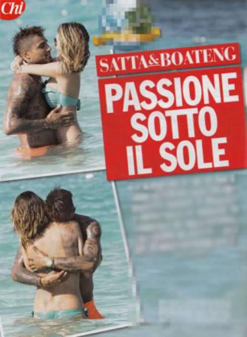 Satta super sexy in vacanza con Boateng 2