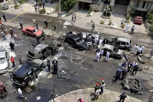 Il luogo dell'attentato contro Barakat 6