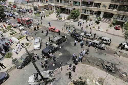 Il luogo dell'attentato contro Barakat 8