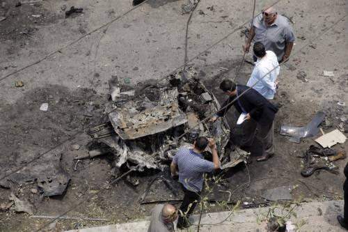 Il luogo dell'attentato contro Barakat 7