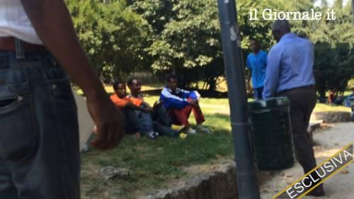 Toni Iwobi incontra gli immigrati che vivono nei giardini di Porta Venezia 3