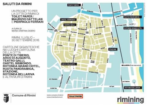 Le cartoline di Cattelan a Rimini 11