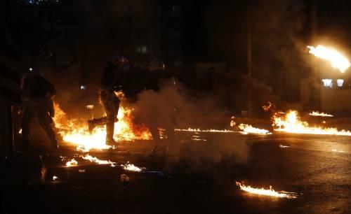 Gli scontri in piazza Syntagma 4