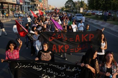 Dimostrazione pro-Pkk a Erbil 3