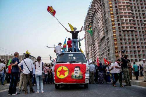 Una manifestazione a favore del Pkk a Erbil 2