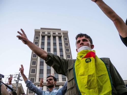 Una manifestazione a favore del Pkk a Erbil 1