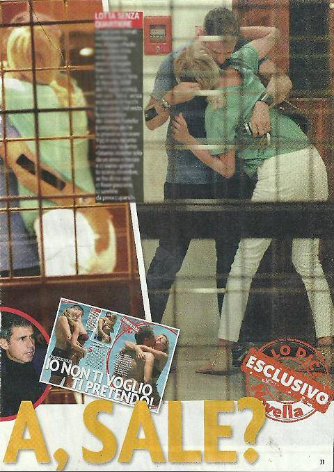 Alessia Marcuzzi, tenerezze col marito