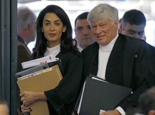 L'avvocato Amal Alamuddin Clooney in una foto d'archivio