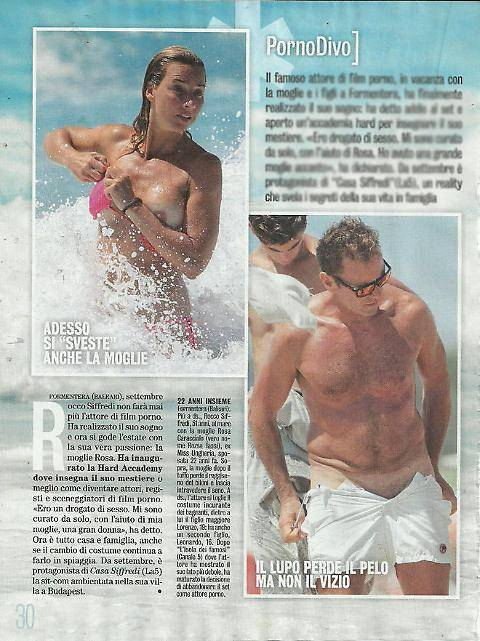 Rocco Siffredi e Rosa Caracciolo, la vacanza diventa sexy: lui nudo, lei in topless 2