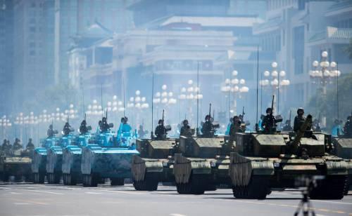 La sfilata dell'esercito cinese 17