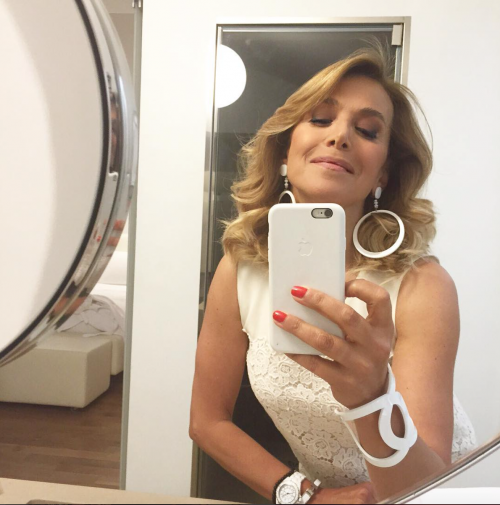 Barbara D'Urso vestita d'argento 5