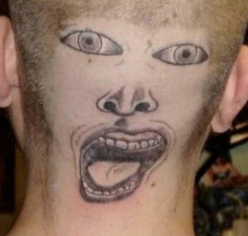 Tatuarsi la faccia. Le foto più strane 9