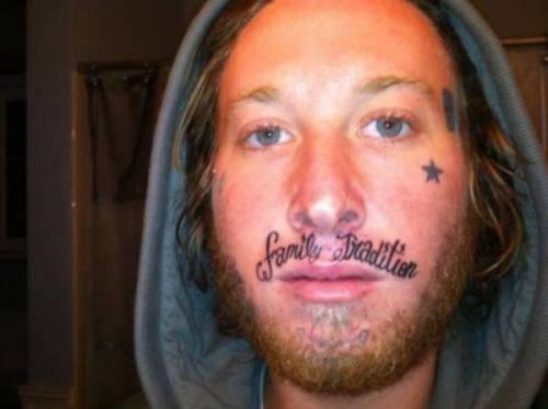Tatuarsi la faccia. Le foto più strane 2