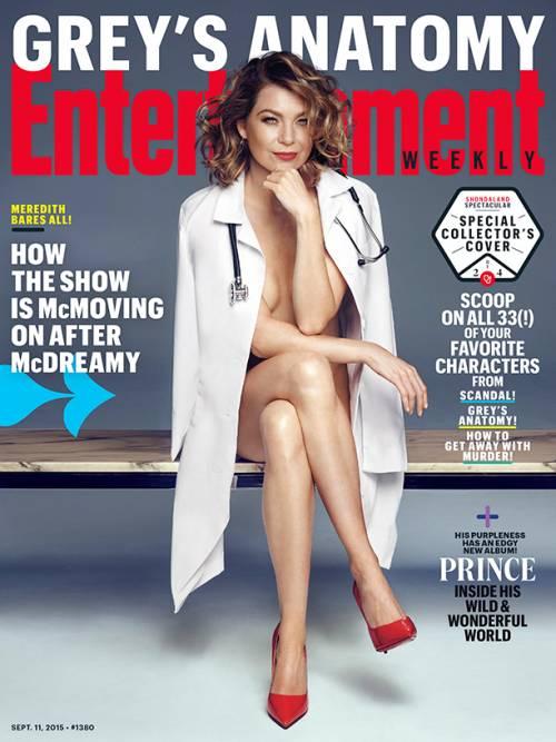 Grey's Anatomy, Meredith nuda in copertina e single sul set
