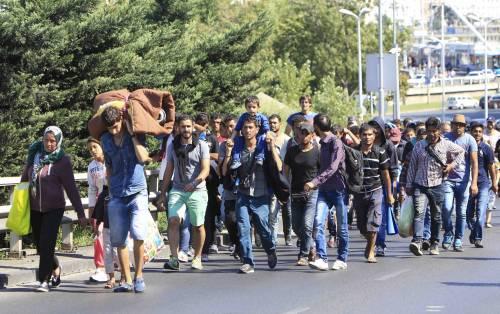 La marcia a piedi dei profughi 9