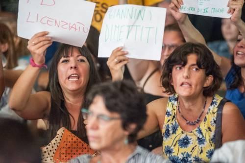 Giannini contestata alla festa del Pd 8